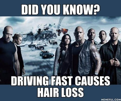 did you know driving fast causes hair loss